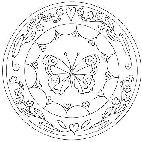 Mandala infantil de corazones y flores | coloring pages | Pinterest ...