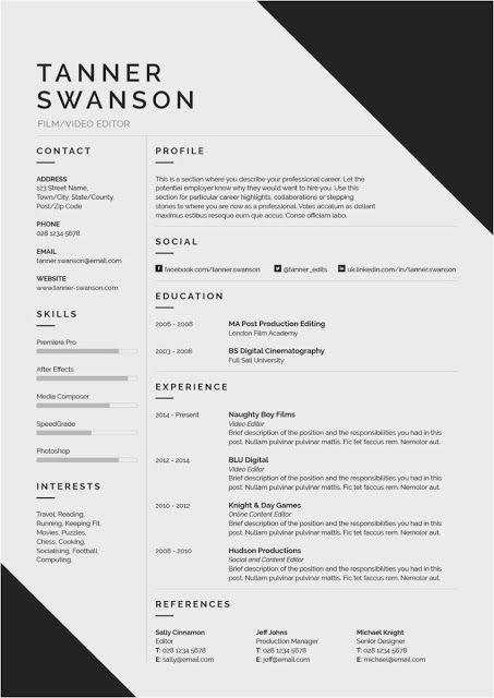 Architekt Bewerbungsschreiben Resume Templates Click Picture For More Lebenslauf Vorlagen R Resume Design Template Resume Design Architecture Resume