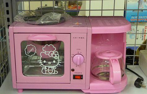 Hello Kitty Coffee Maker And Mini Oven