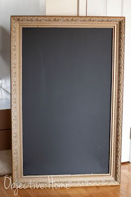 Old Picture to a Chalkboard -- you can pick up ugly paintings fairly cheaply at yard sales or thrift stores.