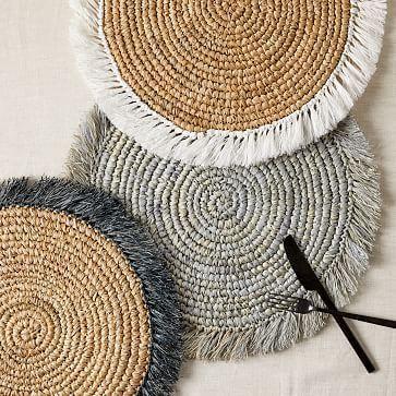 Woven Rattan Placemats Jogo Americano De Croche Porta Copos De Croche Bico Croche Facil