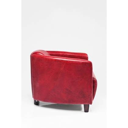 Fauteuil Rood Leer.Kare Design Fauteuil Cigar Lounge Leer Rood Fauteuil