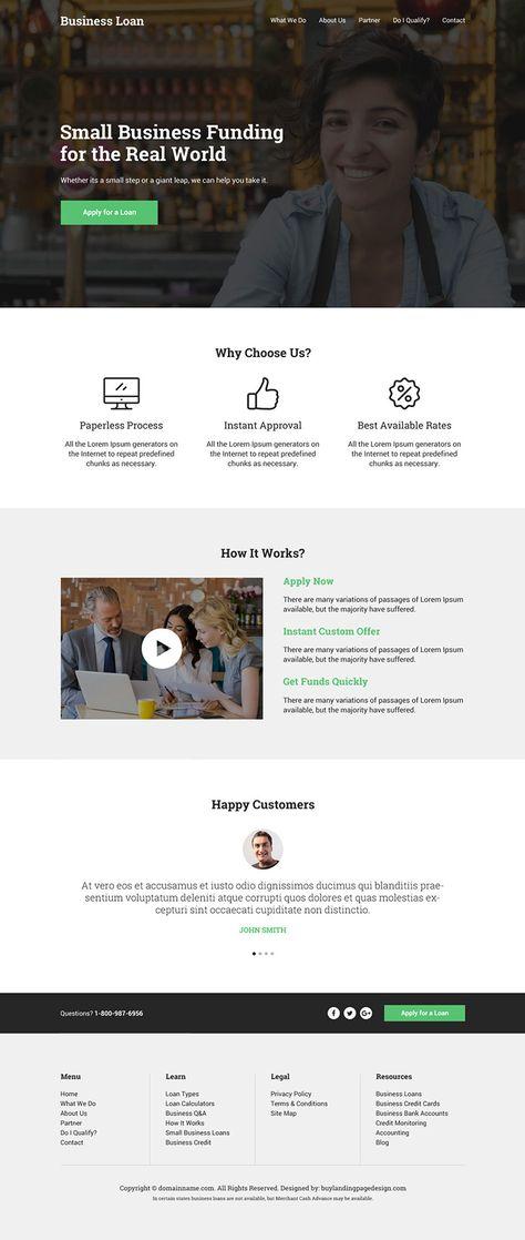 best-business-loan-resp-website-design-002 | Business Loan Website Design preview.