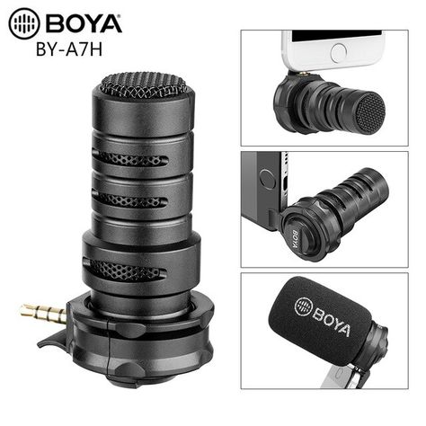 Buy BOYA BY-A7H Condenser Video Vlogging Recording Microphone 3.5mm Interface for iPhone Samsung Huawei IGTV Youtube Live Show at Wholesale Price. Free or Lowcost Worldwide Shipping. And large of options in our best Portable Audio & Video category with cheapest price on Pricetug.com