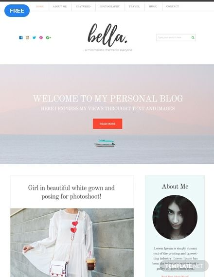 Free Personal Blog Html5 Css3 Website Personal Website Templates Website Template Psd Website
