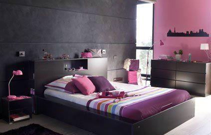 Decoration Chambre Parentale Harmonie De Gris Rose Et Prune