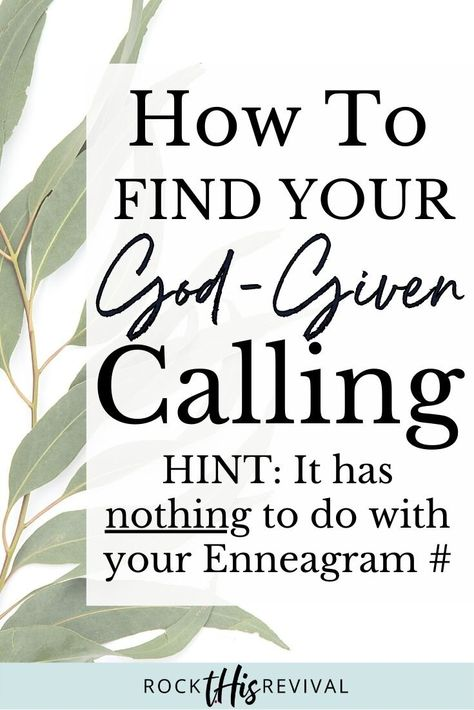 How To Find Your God-Given Calling  — t.His | Rock This Revival