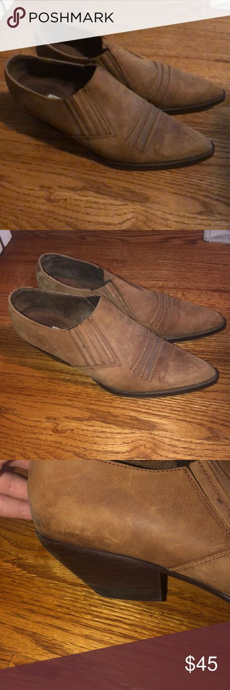 Guess by Georges Marciano Booties Brown Booties Low Heel Guess by Georges Marciano Guess by Marciano Shoes Ankle Boots & Booties