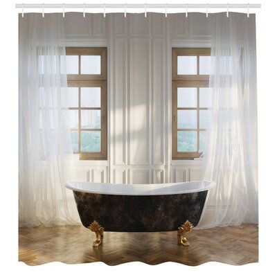 East Urban Home Antique Shower Curtain Set Hooks Products In