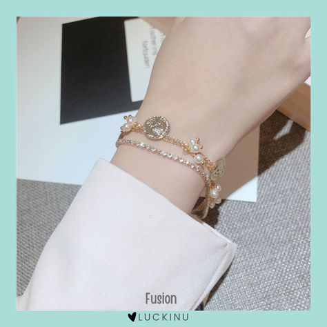 Fusion 3 Layered Pearl Bracelet $17.99