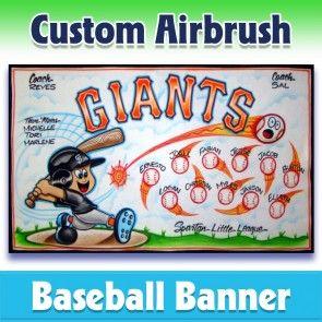 Baseball Banner Giants 1007 In 2020 Baseball Banner Team Banner League Banners