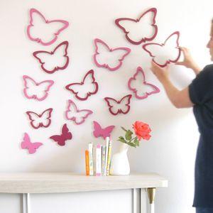 3d Muurdecoratie Kinderkamer.Muurdecoratie Vlinder Deze Muurdecoratie Vlinder Is