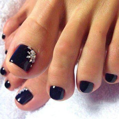 Black Pedicure Designs Toenails 57 Ideas Pedicure Designs Toenails Pedicure Nail Art Toe Nail Color