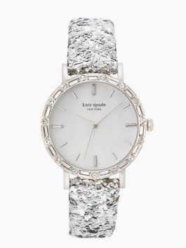 **Metro Pave Interchangeable Skinny ~ Watch ~ Kate Spade New York ~ in Silver/Pool Blue ~ Obviously, the sparkles caught my eye!