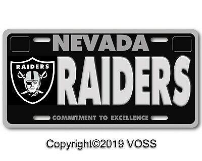 Las Vegas Nevada Raiders Nfl Football Team Aluminum Vanity License Plate No A L Ebay In 2020 License Plate License Plate Covers Nfl Football Teams