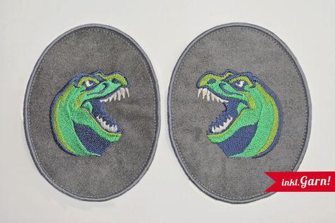 Patch Krokodil Aufnäher kleiner Dino