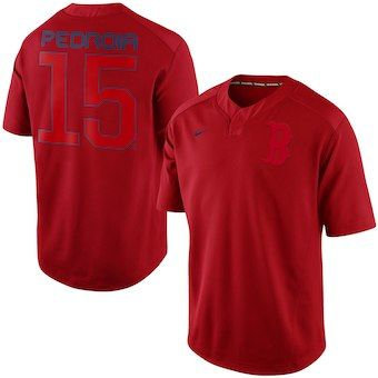 85953d3de Dustin Pedroia Boston Red Sox Nike Flash Player Performance Jersey - Red