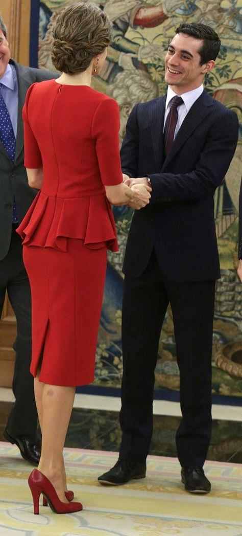 Los reyes Felipe y Letizia celebran los logros del patinador Javier Fernández - 22.04.2016