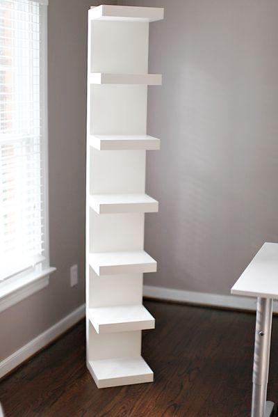 Diy Ikea Shelf Easy Hack For Makeup Storage Ikea Lack Shelves Ikea Lack Wall Shelf Room Shelves