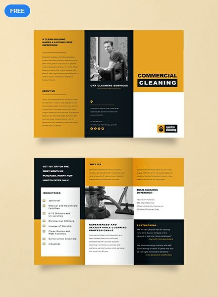 Free Commercial Cleaning Brochure Template Word Doc Psd Apple Mac Pages Illustrator Publisher Free Brochure Template Typography Brochure Commercial Cleaning