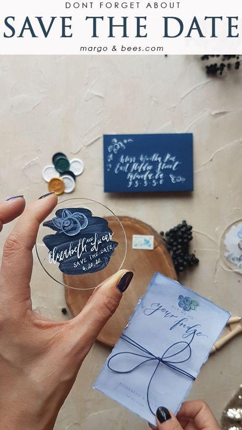 Save the date idea with magnet #savethedateidea #savethedate #summerwedding #navywedding
