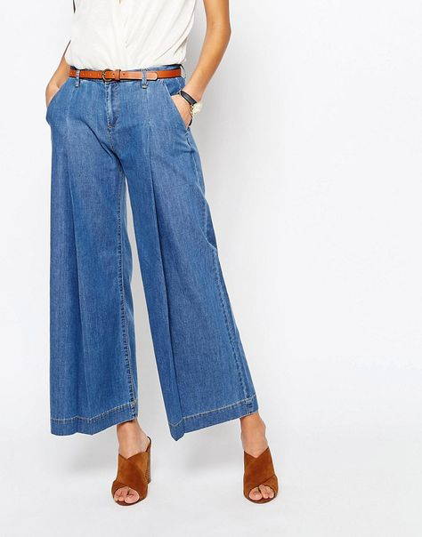 the latest exquisite design really comfortable Mango+Denim+Wide+Leg+Trouser | Wide leg denim, White wide leg ...
