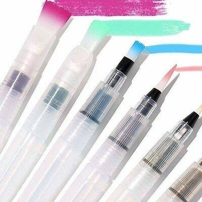 Cepillo de color de agua 6 un Pluma de Dibujo Acuarela Color Recargable Arte Pincel Pluma Nuevo