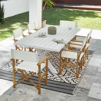 Fusion Metal X Leg Outdoor Dining Table Outdoor Dining Outdoor