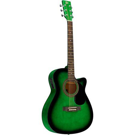 Rogue Ra 090 Concert Cutaway Acoustic Electric Guitar Walmart Com Acoustic Electric Acoustic Electric Guitar Guitar