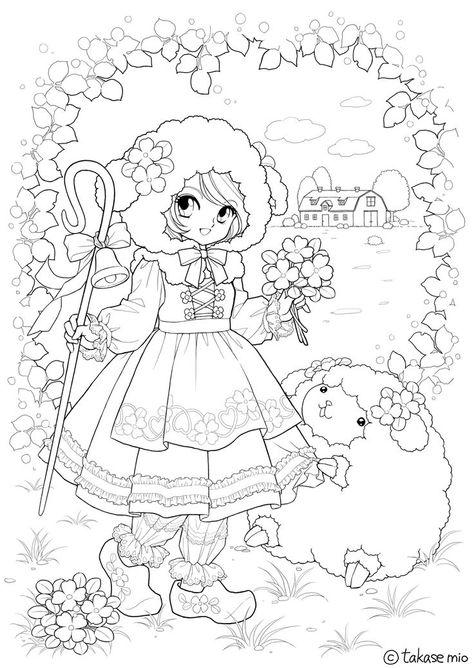 Coloriage Shojo Coloriage Coloriage Kawaii Coloriage Noel A