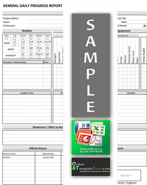 This template will assist your supervisors to keep an accurate - daily construction report template