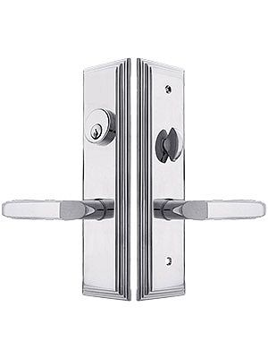 Manhattan Mortise Lock Entry Set With Milano Levers Mortise Lock Front Door Hardware Entry Door Hardware