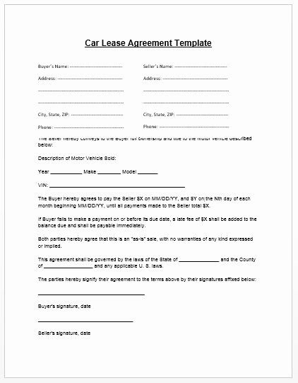 Ms Word Rental Agreement Template In 2020 Car Lease