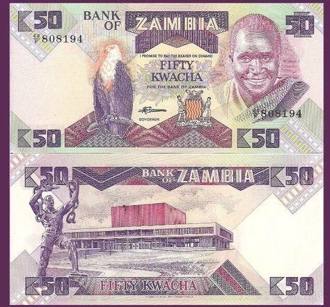 Pick 52c 20 Kwacha 2014 UNC Zambia