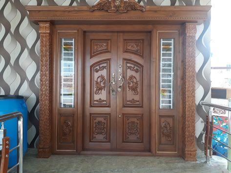 38 Trendy Main Double Door Design Entrance Indian In 2020 Double Door Design Wooden Main Door Design House Front Door Design