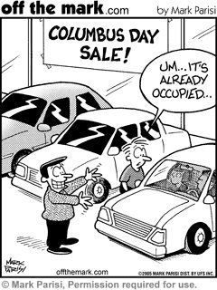 Columbus Day Political Cartoon Columbus Day Sale Political Cartoons Christopher Columbus Facts