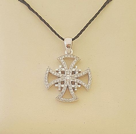 Hey, I found this really awesome Etsy listing at https://www.etsy.com/il-en/listing/584924688/jerusalem-cross-pendantgold-and-diamond