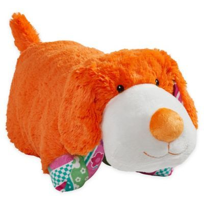 Pillow Pets Colorful Puppy Pillow Pet In Orange Animal Pillows