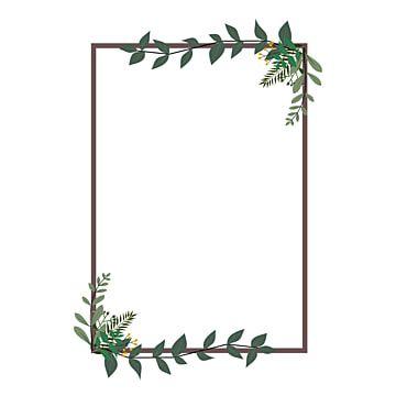 Invitation Rectangle Rectangle Clipart Ivy Rectangle Png And Vector With Transparent Background For Free Download Di 2021 Cat Air Bunga Kartu Pernikahan Pola Bunga