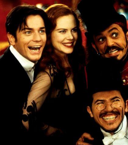Ewan McGregor, Nicole Kidman, John Leguizamo & Jacek Koman in Moulin Rouge!