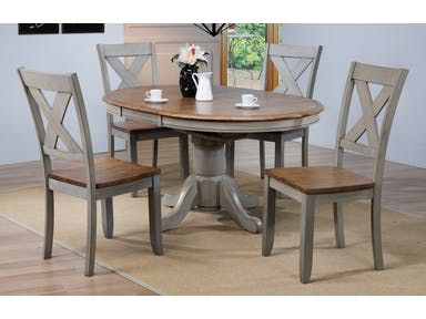 Db54257 Set Table And 4 Chairs Round Extendable Dining Table Dining Table Makeover Pedestal Dining Table