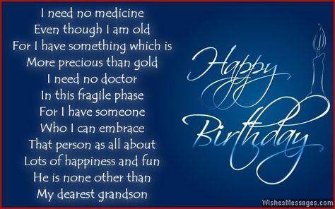 Birthday Poems For Grandson Grandson Birthday Wishes Grandson Birthday Quotes Birthday Poems