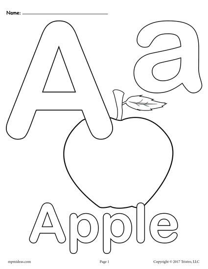 Letter A Coloring Pages - 3 Printable Alphabet Coloring Pages! Abc Coloring  Pages, Alphabet Coloring Pages, Letter A Coloring Pages