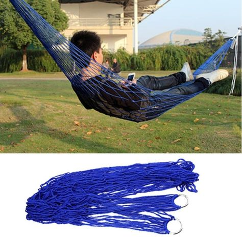 Humorous 1pc Sleeping Hammock Hamaca Hamac Portable Garden Outdoor Camping Travel Furniture Mesh Hammock Swing Sleeping Bed Hot Selling Strong Packing Camp Sleeping Gear
