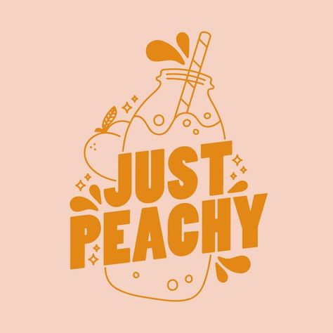 Just Peachy Lettering and Illustration Bauhaus Typography, Art Deco Typography, Cute Typography, Typography Alphabet, Japanese Typography, Vintage Typography, Typography Poster, Typography Quotes, Hand Drawn Typography