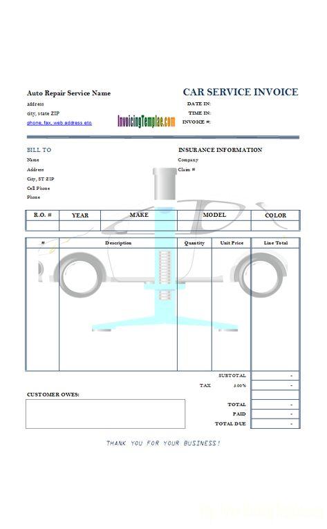 Image result for bike repairing bill j Pinterest Sample resume - car service invoice