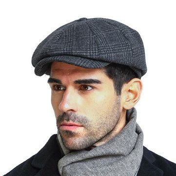 d59587ced Classic Faux Fur Winter Berets Cap Hats Men Russia Newsboy Hat with Earflaps  Retro Warm Duckbill Cap Visor Peaked Hat Flat cap. Yesterda…