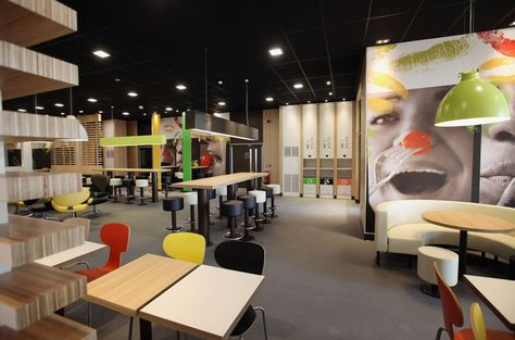 World's largest McDonald's interior. The restaurant, which is one of four McDonald's to be situated within the Olympic Park, will have a staff of