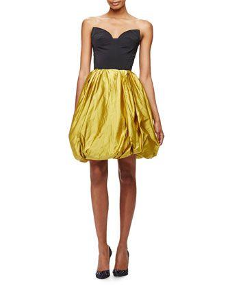ccec0a767c918 Strapless Sweetheart Cutout Bubble Dress by Oscar de la Renta at Bergdorf  Goodman.