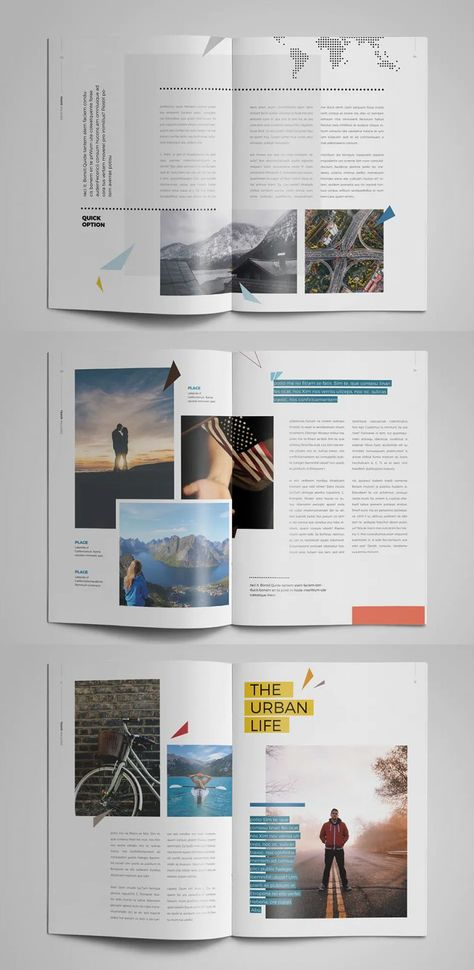 Travel Magazine Layout Template InDesign